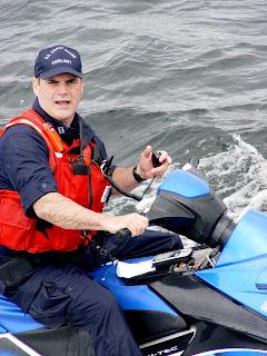 John Conroy on personal watercraft