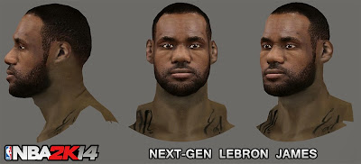 NBA 2K14 LeBron James Next-Gen Cyberface Mod