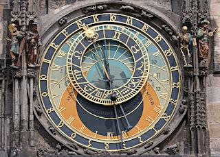 esfera del reloj astronómico