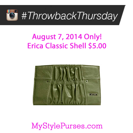 Miche Throwback Thursday August 7, 2014 - Erica Classic Shell $5.00 | Shop MyStylePurses.com