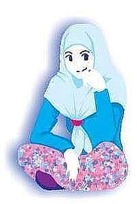 Gambar Girl Beautiful Hijab Cartoon Laa Tahzan Kartun Animasi Jilbab