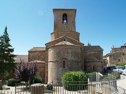 L'absis i el campanar de Santa Maria de L'Estany