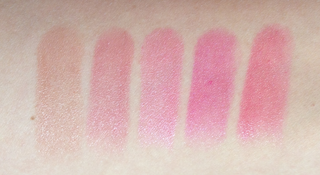 l'oreal caresse by colour riche lipstick swatches