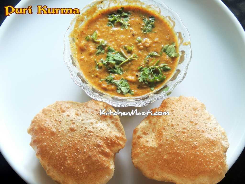 Puri Poori Kurma Recipe