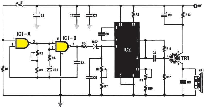 schema electronique net  un g u00e9n u00e9rateur d u2019effets sonores