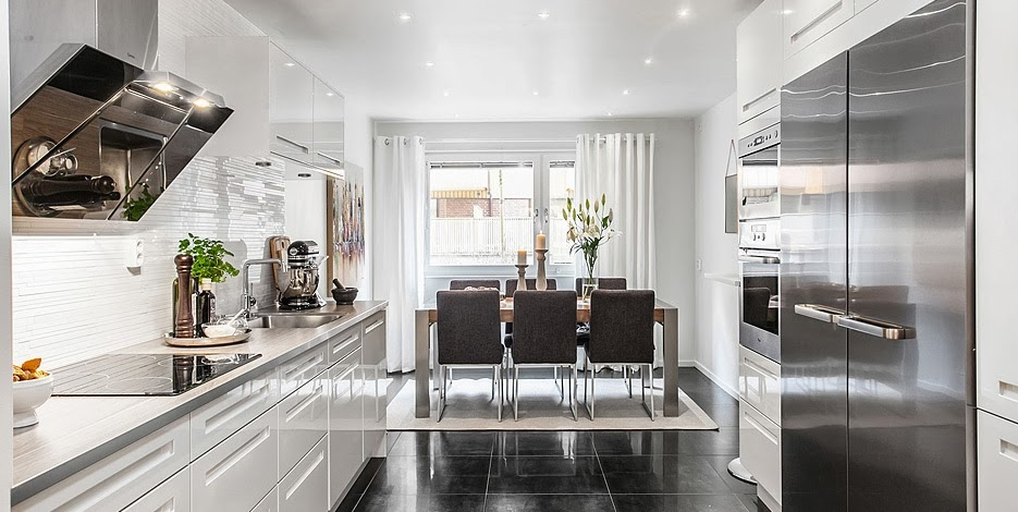 amenajari, interioare, decoratiuni, decor, design interior, stil scandinav, culori neutre, apartament 3 camere, bucatarie, loc de lua masa