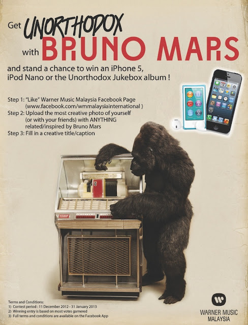 Get Unorthodox with Bruno mars win iPhone 5 iPod Nano unorthodox Jukebox album