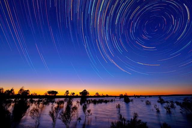 تصوير النجوم ليلا