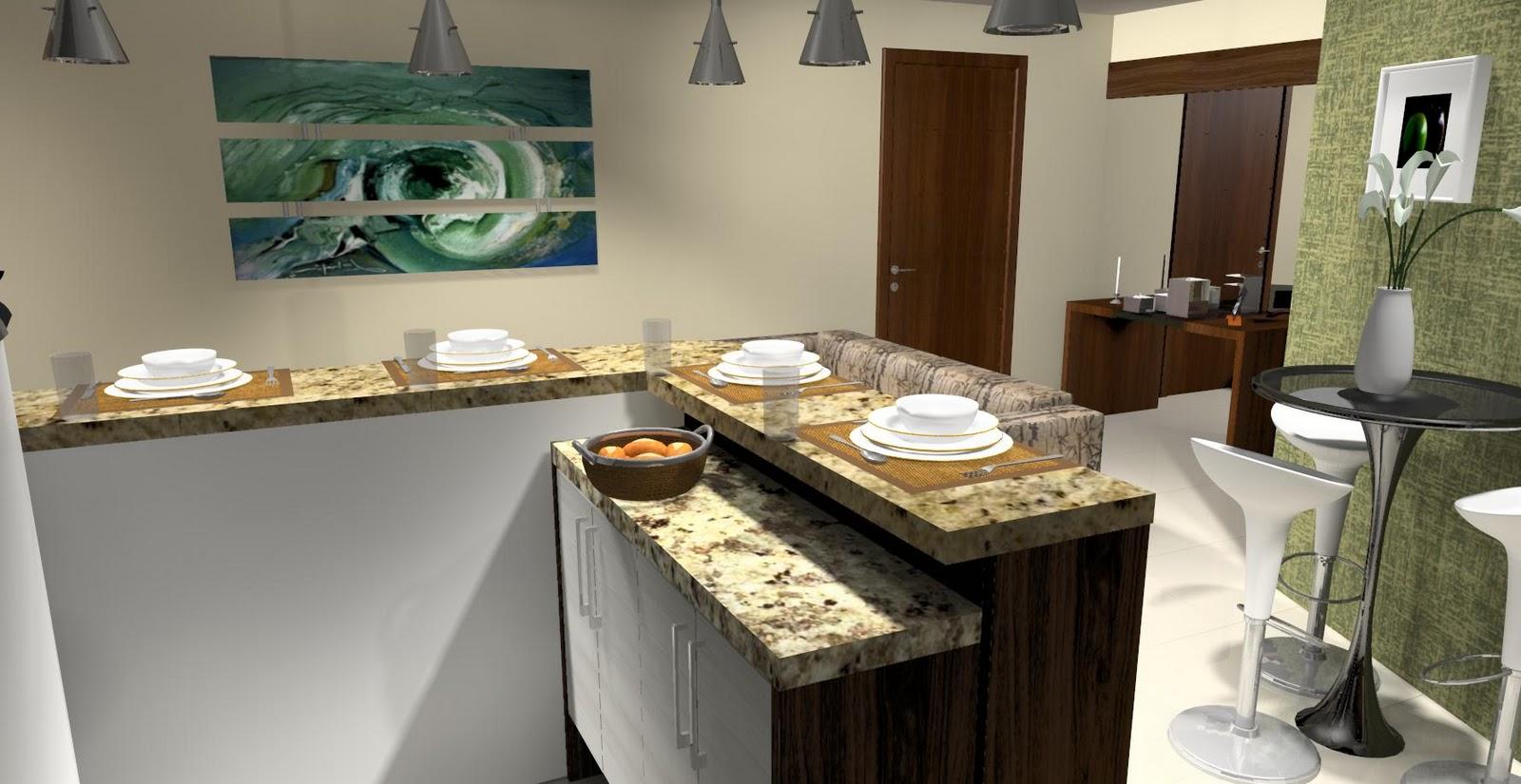 cozinha americana junto com salaIdéias de decoração para casa #966C35 1600 825