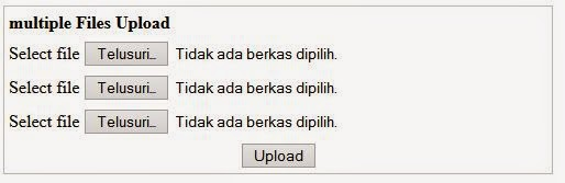Multiple upload dengan php