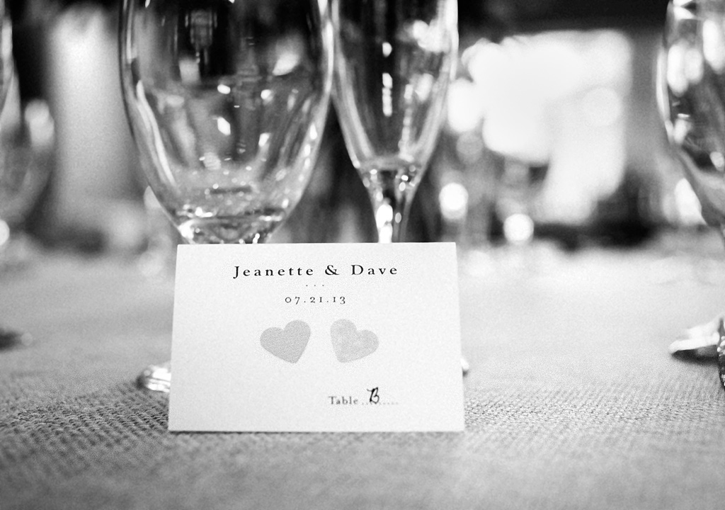 Cute wedding escort cards - Virginia wedding photography