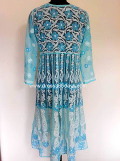 Light Blue Chikankari Georgette Anarkali