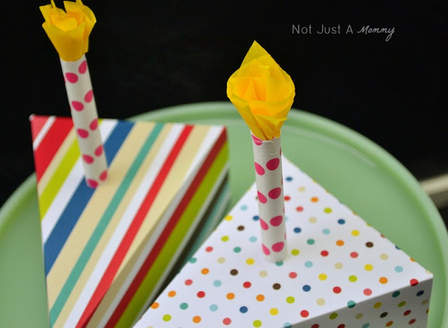 paper cake slice jumbo paper straw candle