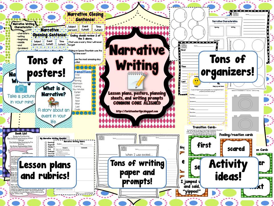 What are characteristics of narrative writing?