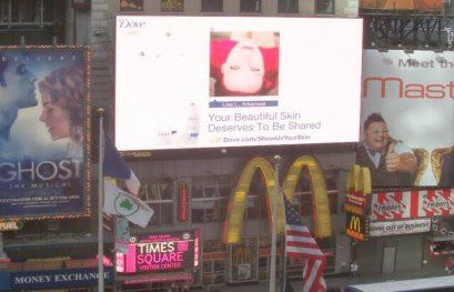 Billboard in Times Square