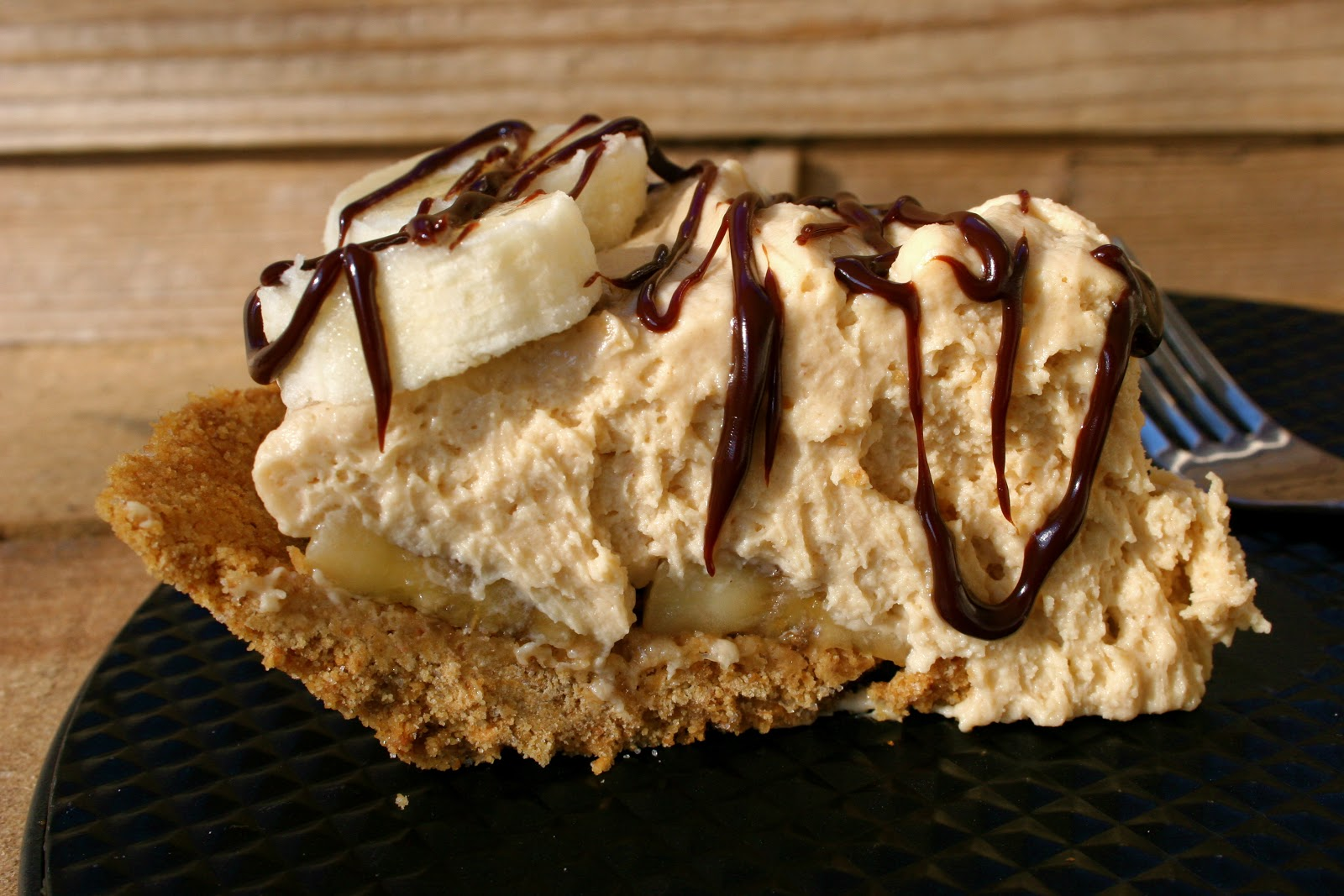 Peanut Butter Banana Cream Pie with Chocolate Ganache | Nothing in the ...