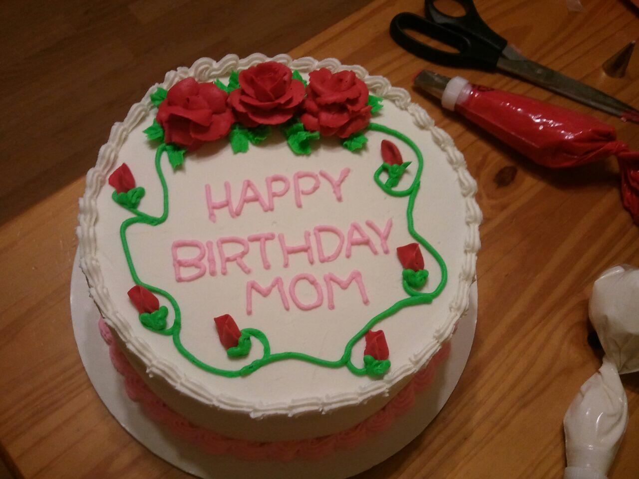 Mom S Birthday Cake Pictures : Slug Bug Bakery: A Birthday Cake for Mom!