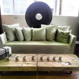 Cream Sofa Custom Made Industrial Coffee Table Furniture store Fortitude Valley