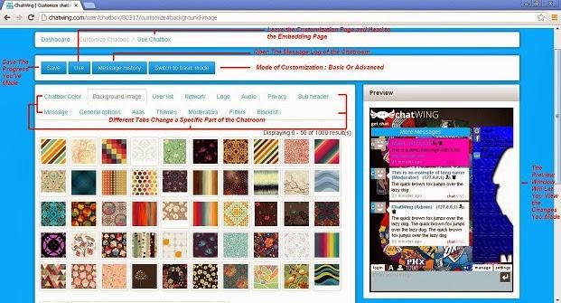 Chatwing Customization Page