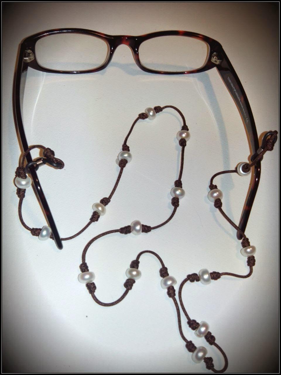 Collar de perlas para las gafas, artesanal personalizado