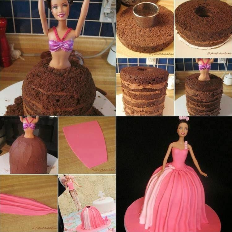 Как сделать торт кукла в домашних условиях