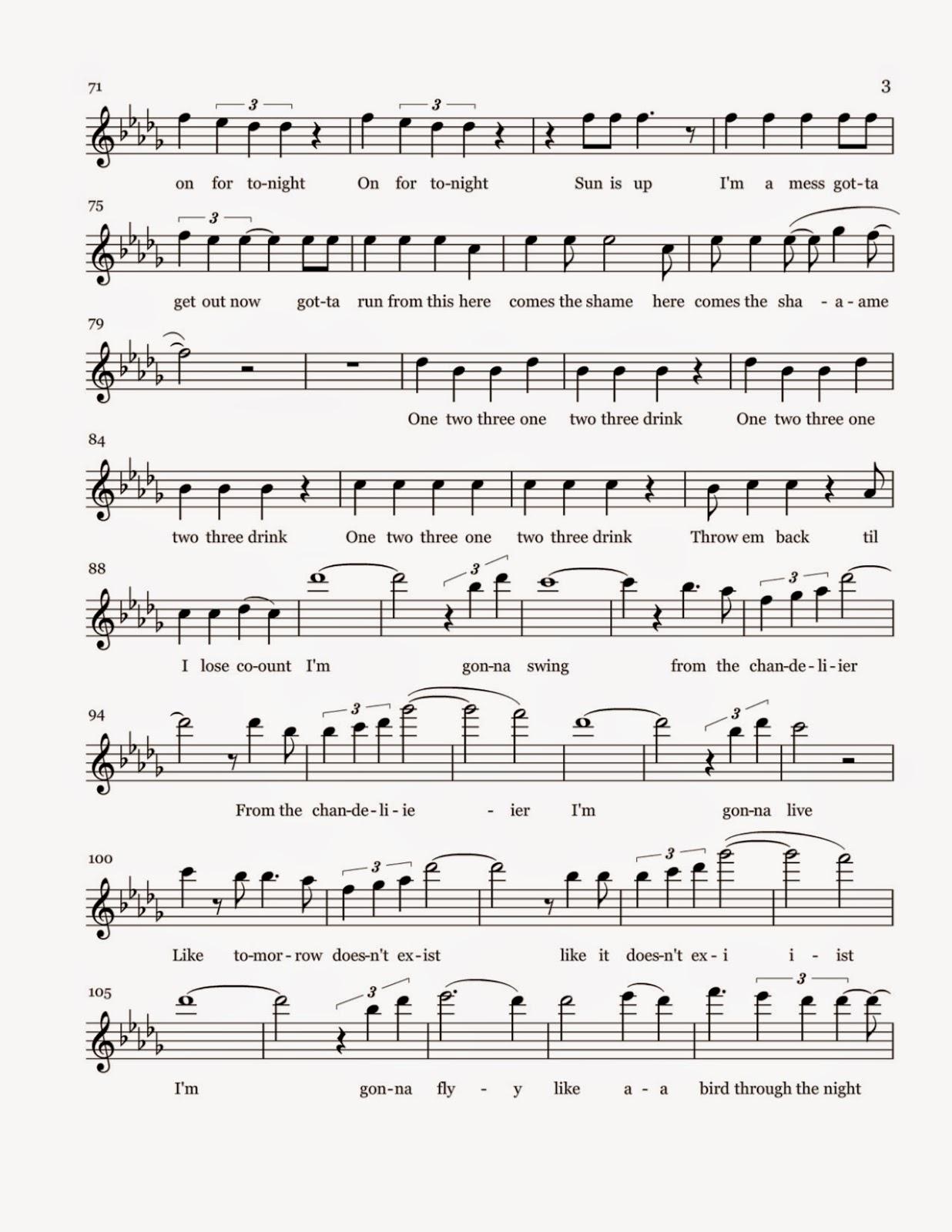 Flute sheet music chandelier sheet music chandelier sheet music mozeypictures Images