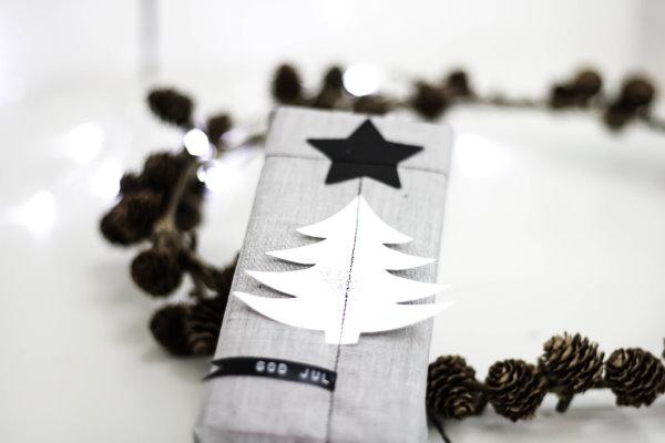 genähte Geschenkverpackung aus Stoffresten
