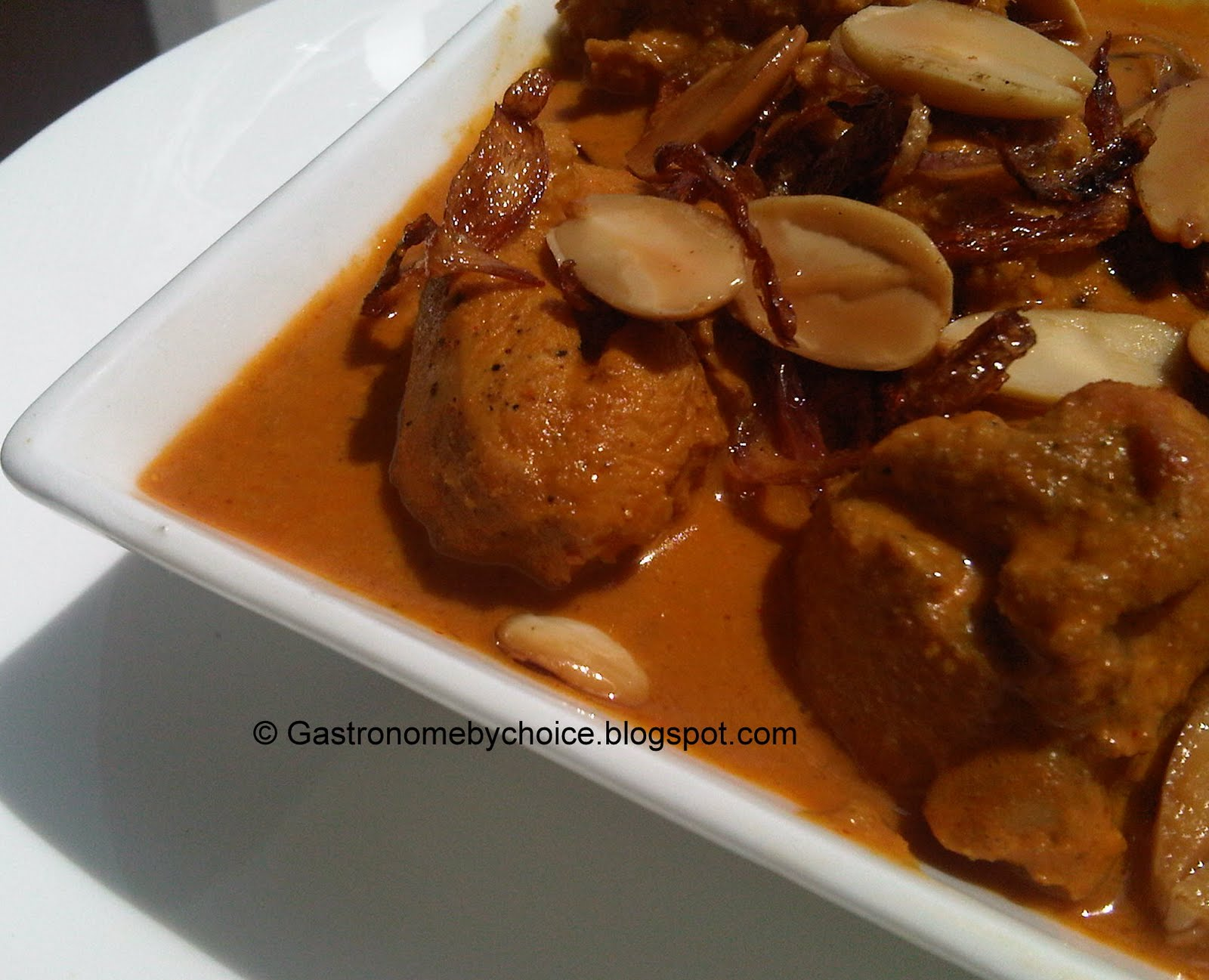 Badami Murg Masala (Chicken Curry in Almond Sauce) ~ Gastronome By ...