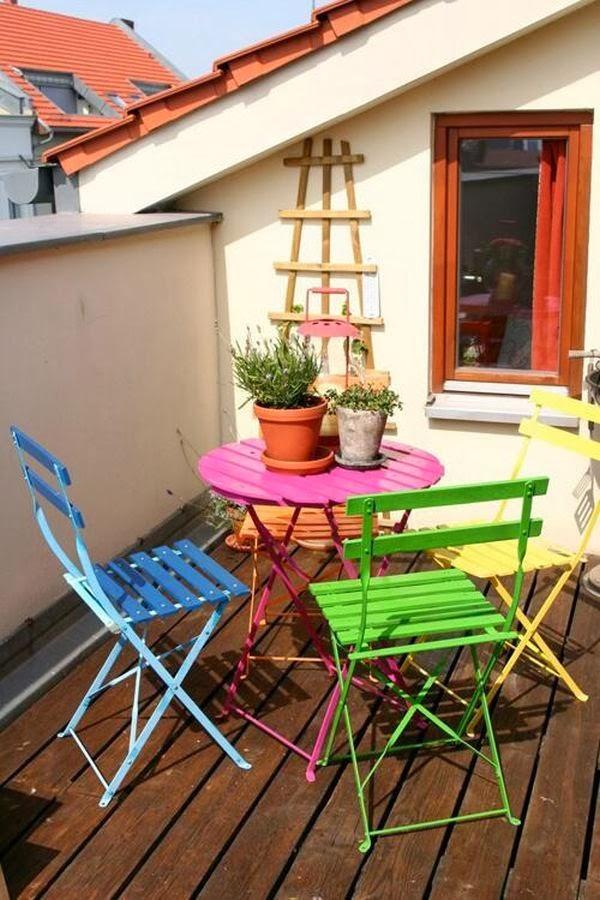 Um jardim para cuidar Fantásticas ideias para pequenos terraços