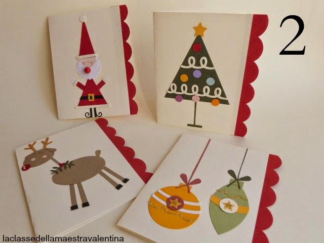 Bigliettini natalizi n 2 for Abbellire la classe per natale