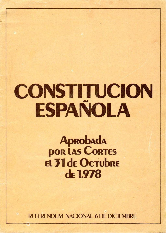 31.10.17 LA CONSTITUCIÓN ESPAÑOLA DE 1978