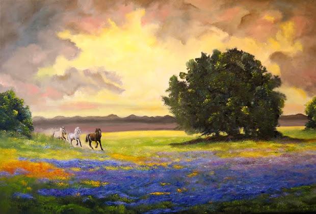 "painting ""texas horses"