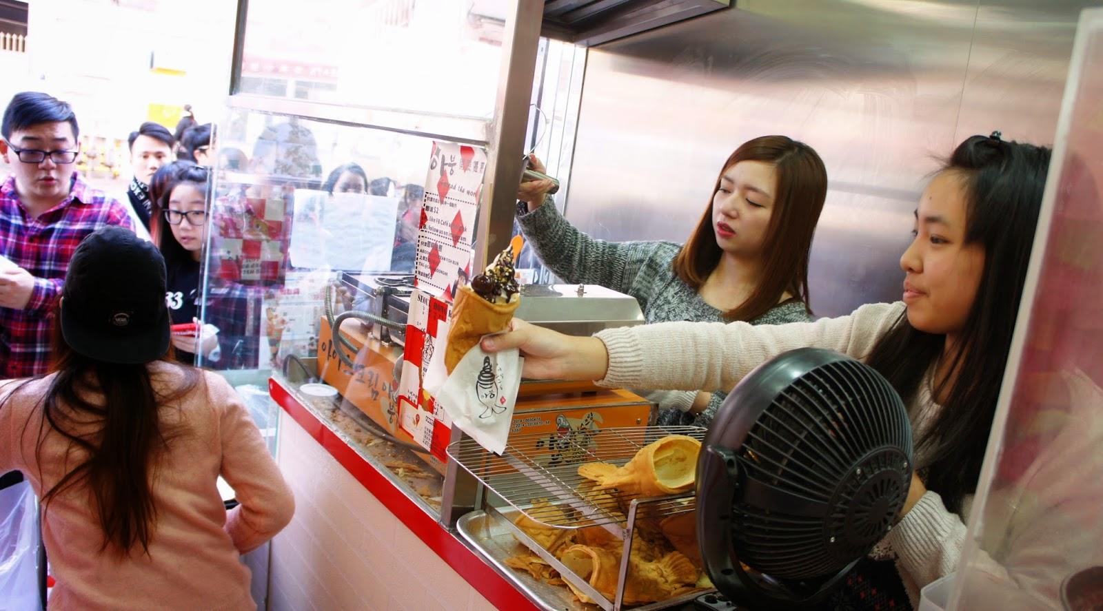 香港 韓食 甜品 紅豆餡 吉士餡 雪糕鯛魚燒 Cafe Aboong 廣華街