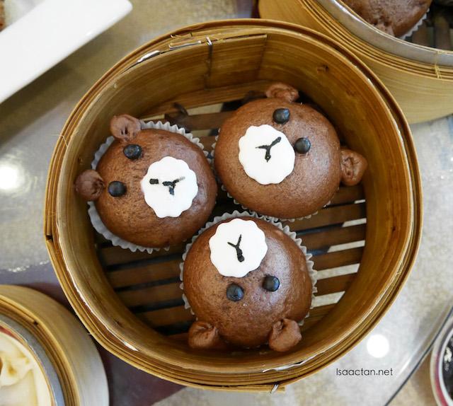 Bear chocolate custard steamed bun