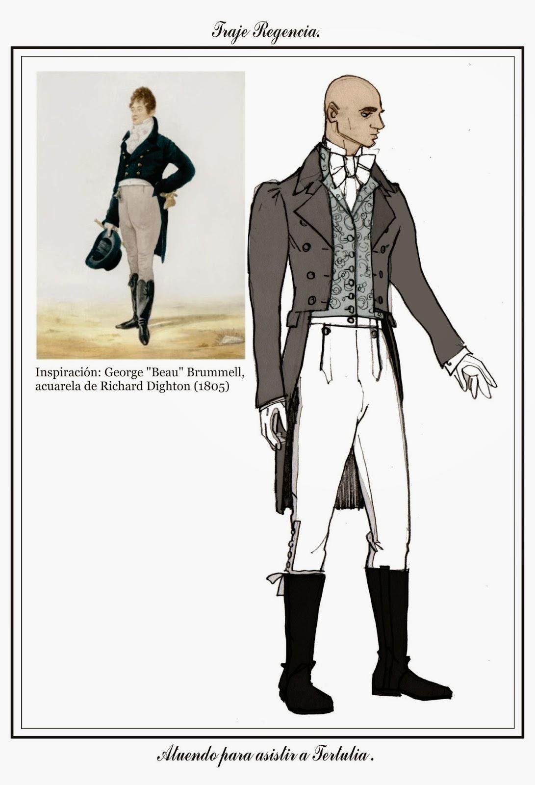 Tras los pasos de Beau Brummell: Atuendo masculino estilo Regencia