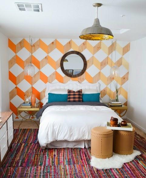 painted headboard  bedroom makeover