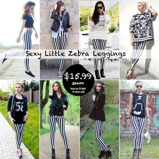 romwe little zebra leggings