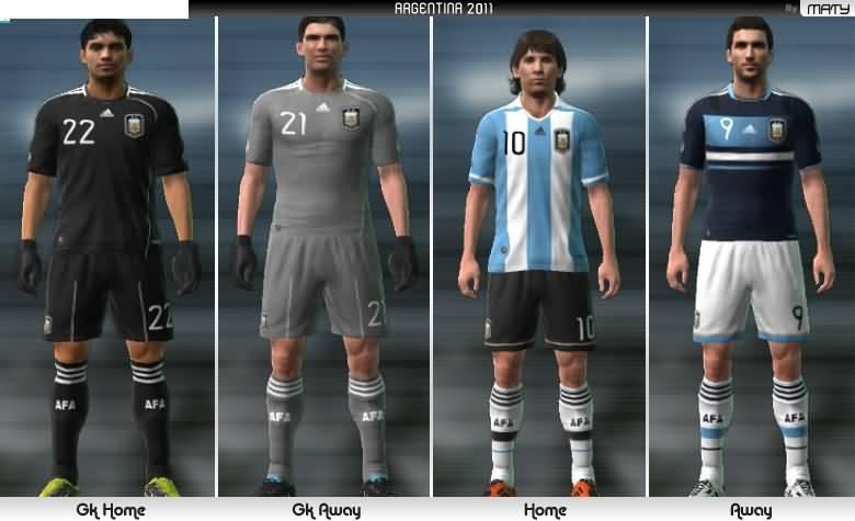 Kit 2011 de la Seleccion ARGENTINA de Futbol, que utilizará en la
