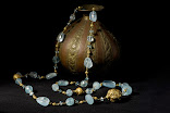 22 Carat Gold necklace with acquamarine
