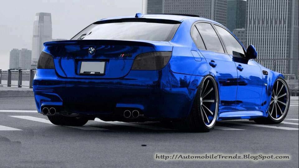 BMW M5 Chrome Blue