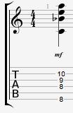 C13 guitar chord