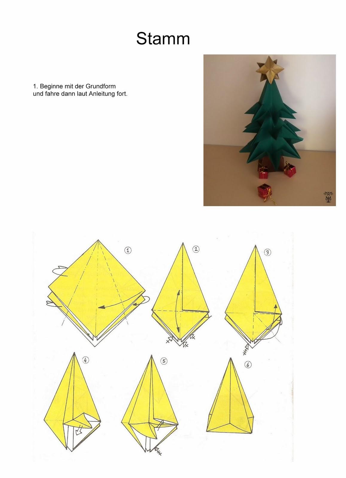 artistoires mach es selbst origami tannenbaum. Black Bedroom Furniture Sets. Home Design Ideas