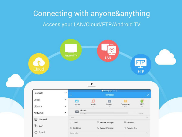 Apps para Android - ES Explorador de archivos