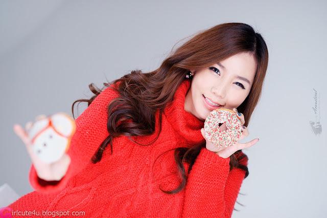 1 Lee Ji Min in Sweet Red-Very cute asian girl - girlcute4u.blogspot.com