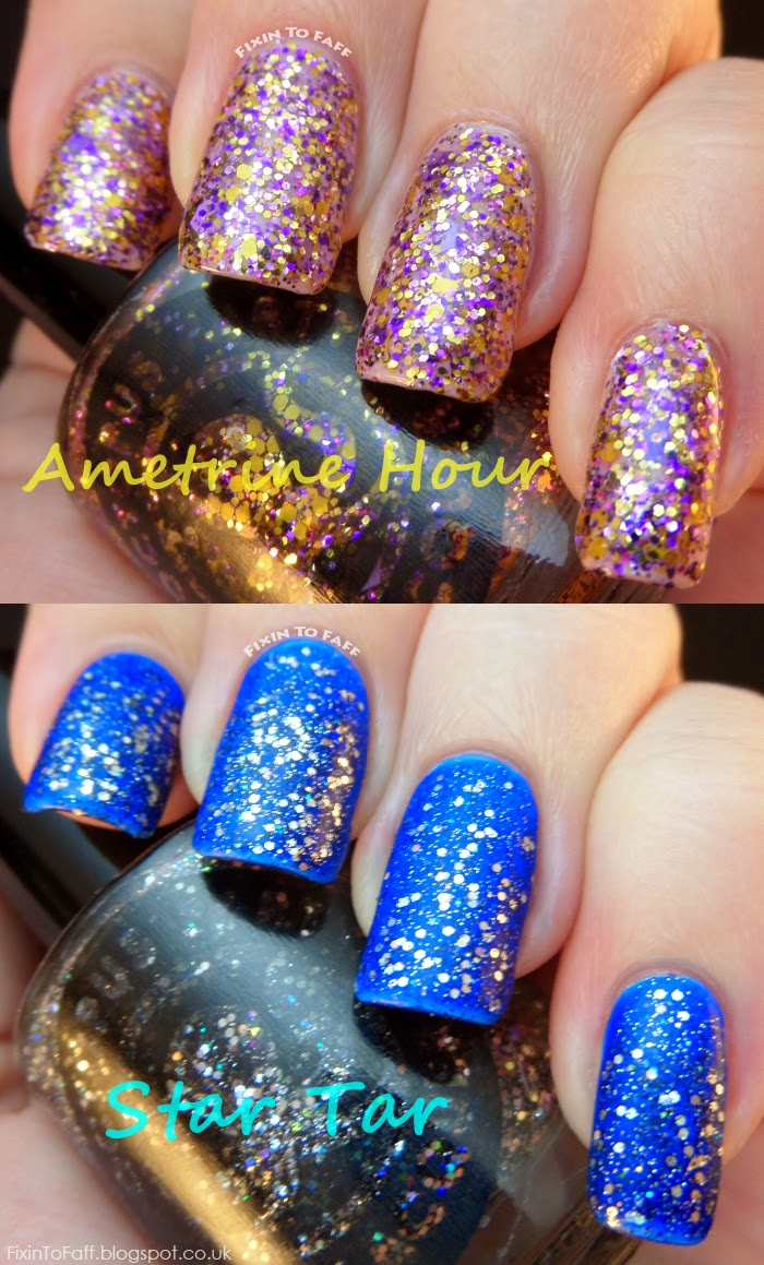 Octopus Party Nail Lacquer Ametrine Hour Star Tar swatches