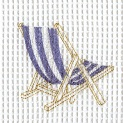 beach chair embroidery