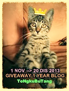 GIVEAWAY 1 YEAR BLOG TENGKUBUTANG