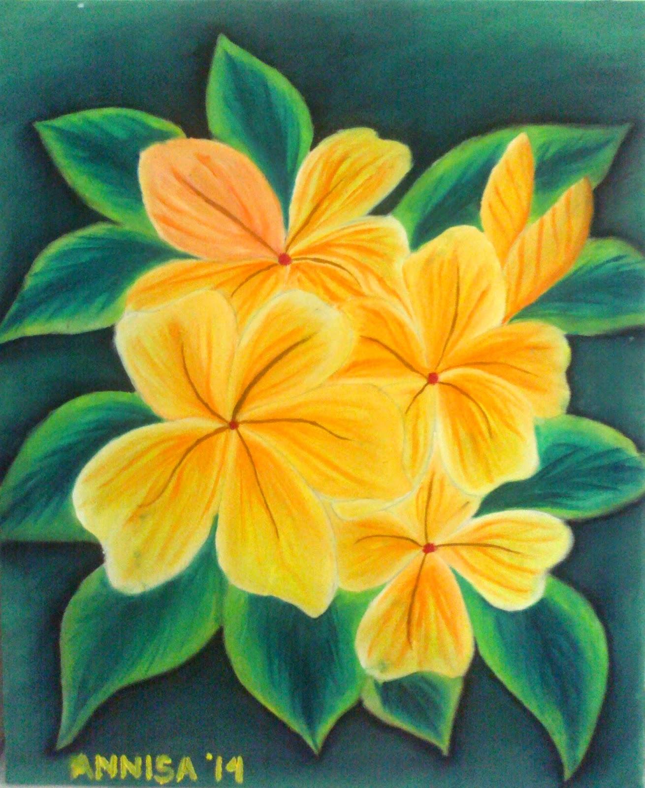 Lukisan bunga sederhana