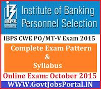 IBPS CWE PO/MT Syllabus 2015