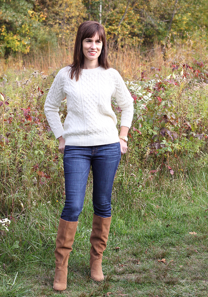 Cableknit sweater, slouchy boots, nordstrom, sole society, what to wear fall